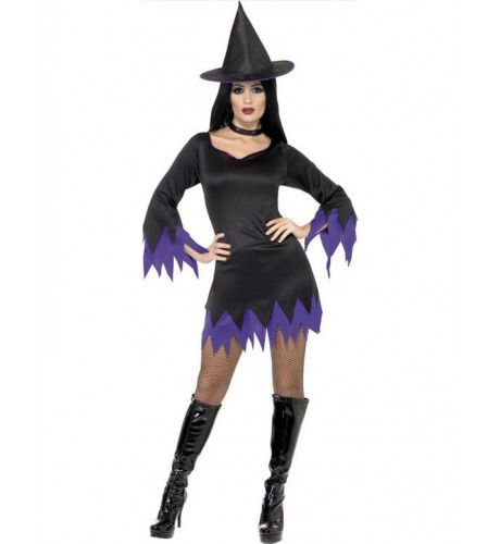 Heks Halloween Vrouw Kostuum Purpura