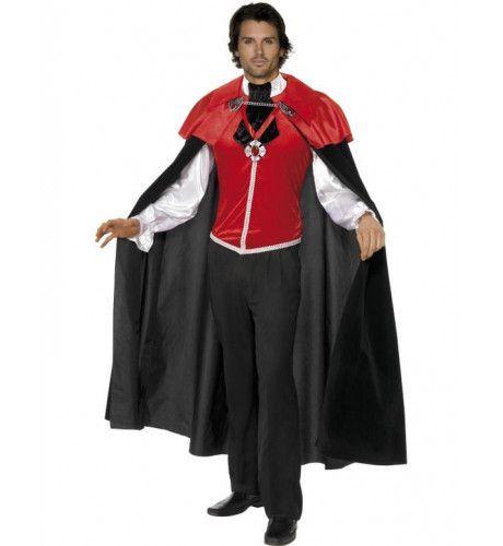 Gotisch Landhuis Vampier Man Kostuum