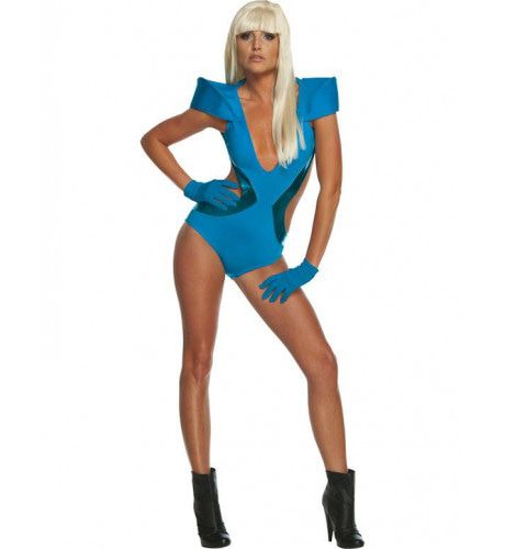Swimsuit Lady Gaga Vrouw Kostuum