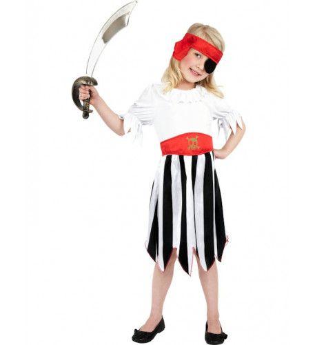 Eenvoudig Piratenmeisje Kostuum