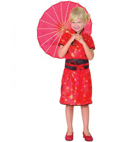 Chinees Rood Meisje Kostuum