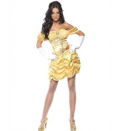 Sexy Gouden Prinses Vrouw Kostuum