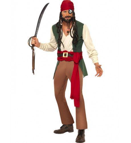 Caraibische Dronken Piraat Man Kostuum