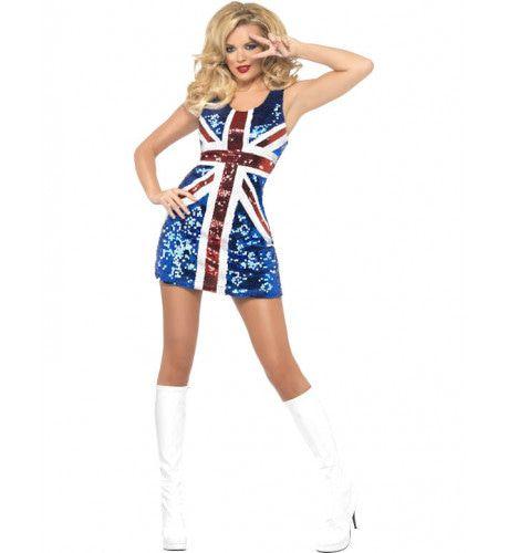 Fever Britse Vlag Vrouw Kostuum