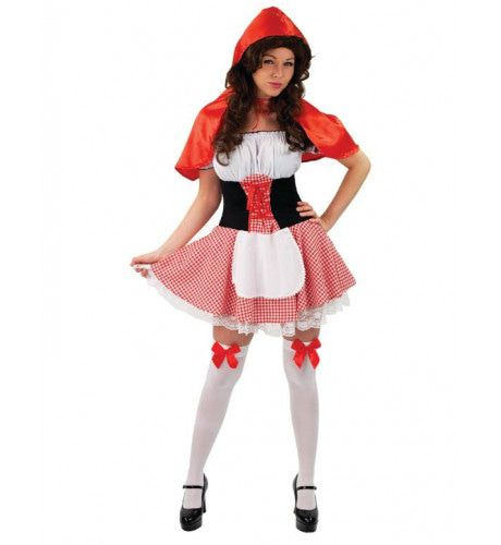 Deluxe Roodkapje Vrouw Kostuum