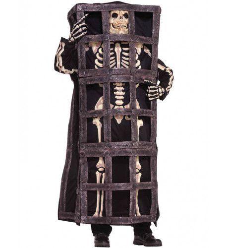 Skelet In Een Kooi Man Kostuum