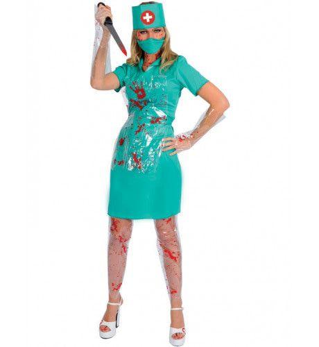 Bloederige Verpleegster Killer Vrouw Kostuum