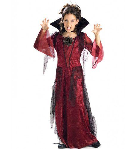 Gothic Vampier Meisje Kostuum