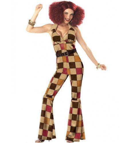 Jaren 70 Boogie Babe Vrouw Kostuum