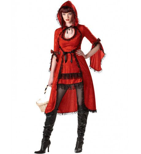 Roodkapje Kant Vrouw Kostuum