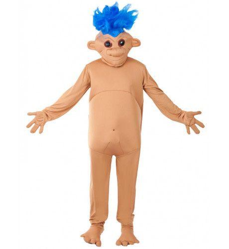 Blauw Troll Doll Kostuum