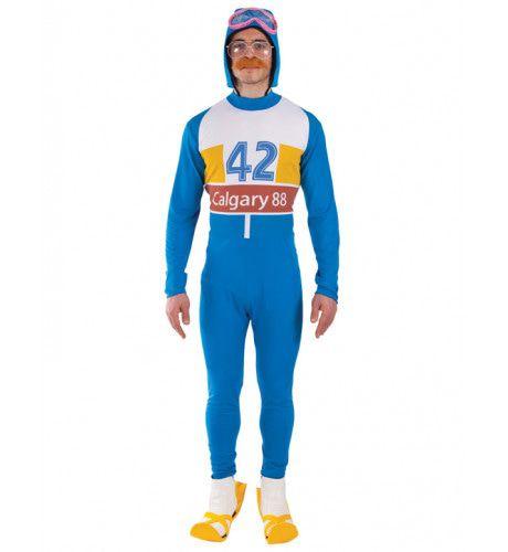 80s Olympische Skier Man Kostuum