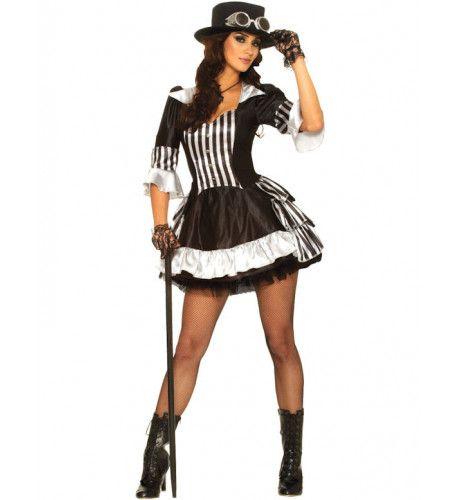 Showgirl Steampunk Vrouw Kostuum
