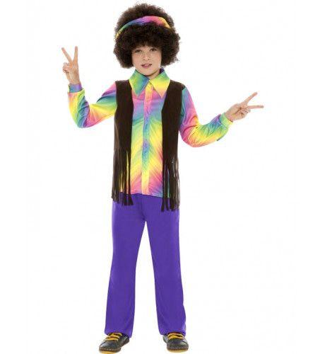 Kind Hippie Jongen Kostuum