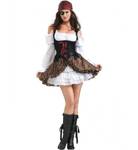 Verleidelijke Pirate Vrouw Kostuum