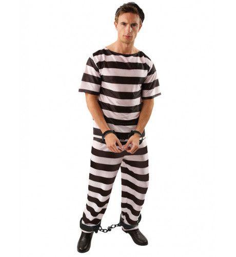 Gevangene Man Kostuum Met Korte Mouw
