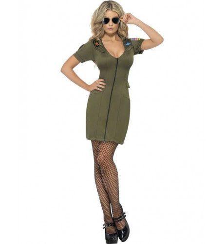 Top Gun Vrouw Kostuum