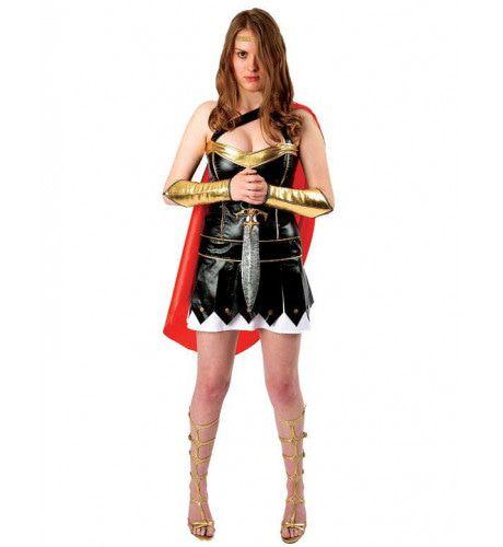 Deluxe Vrouw Gladiator Kostuum