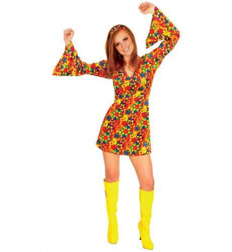 Vrouwelijke Hippie Vrouw Kostuum