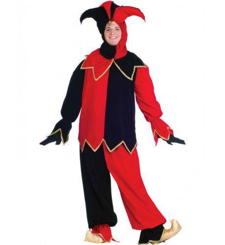 Hofnar Zwart-Rood Kostuum Man