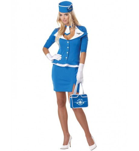 Retro Stewardess Vrouw Kostuum