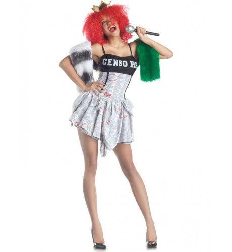 Gecensureerd Pop Superstar Vrouw Kostuum