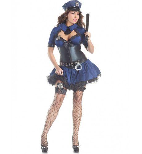 Grote Maat Politievrouw Kostuum (Body Shaper) Vrouw