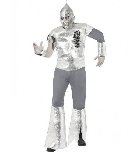 Halloween Tin Man Kostuum-Blikken Man Kostuum
