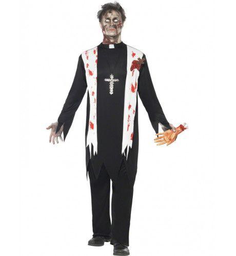 Zombie Priester Man Kostuum