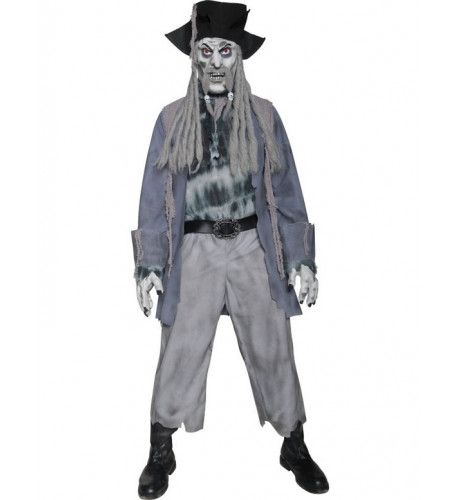 Basic Zombie Piraat Man Kostuum
