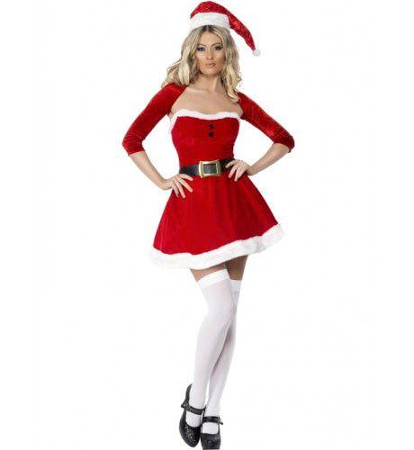 Sexy Miss Kerstman Vrouw Kostuum