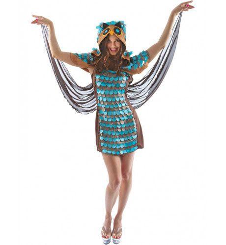 Vrouwen Uil Vrouw Kostuum