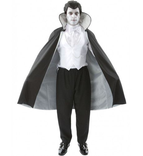 Vampier Halloween Kostuum Met Pruik Man