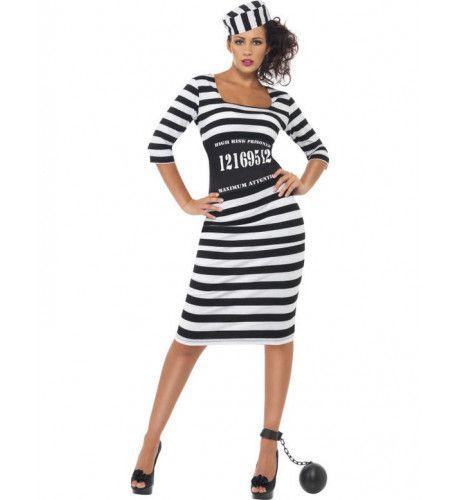 Sexy Gevangene Kostuum Halflang Vrouw
