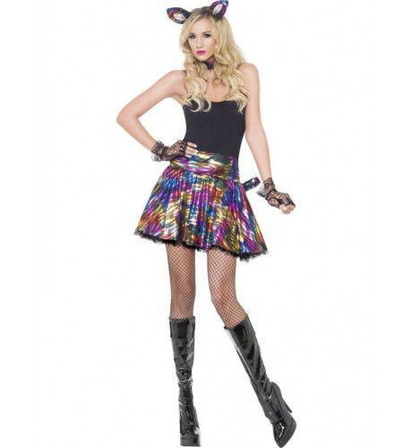 Disco Kat Vrouw Kostuum