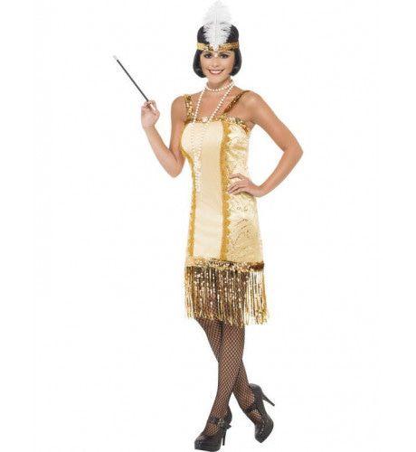 Goud Flapper Vrouw Kostuum
