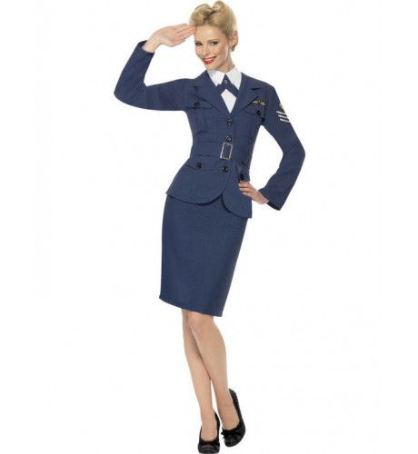 Vrouwen Raf Pilote Vrouw Kostuum