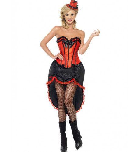 Burlesque Danseres Vrouw Kostuum