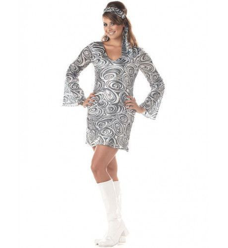 70s Disco Diva Kostuum (Grote Maat) Vrouw
