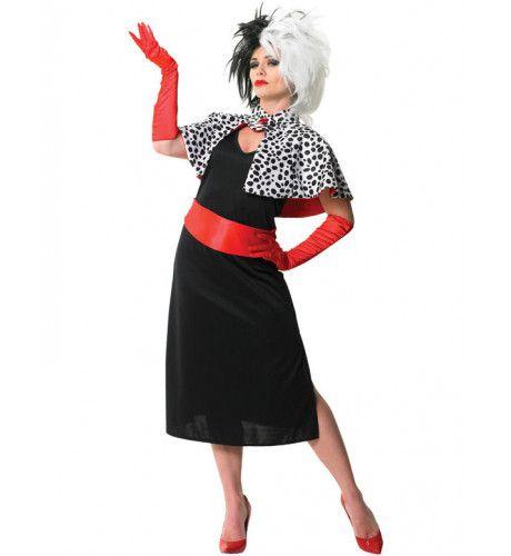 Disney Cruella De Vil Vrouw Kostuum