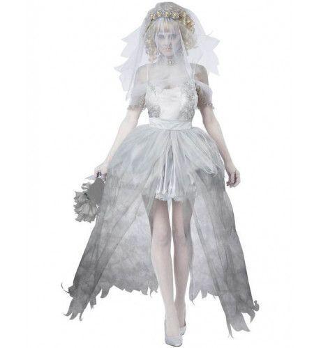 Spookachtige Bruid Vrouw Kostuum