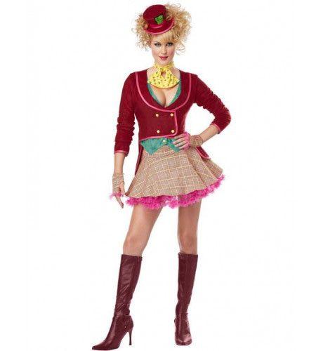 Vrouwen Mad Hatter Vrouw Kostuum