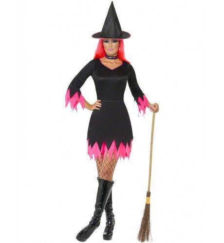 Zwart Roze Heks Vrouw Kostuum