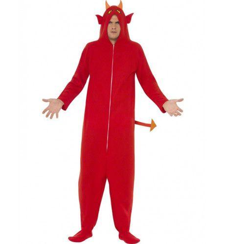 Duivel Onesie (Kostuum Uit 1 Stuk) Kostuum Man
