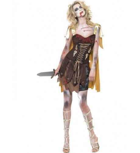 Sexy Zombie Gladiator Vrouw Kostuum
