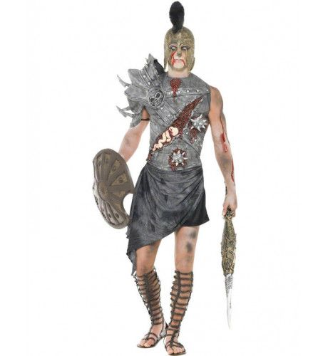 Zombie Gladiator Man Kostuum
