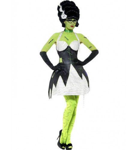 Sexy Bruid Van Frankenstein Vrouw Kostuum