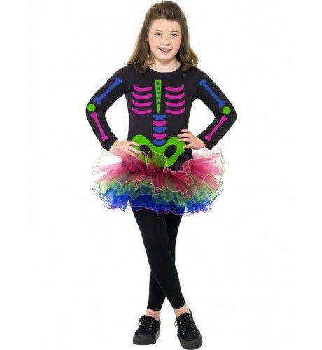 Kind Neon Skelet Tutu Kostuum Meisje