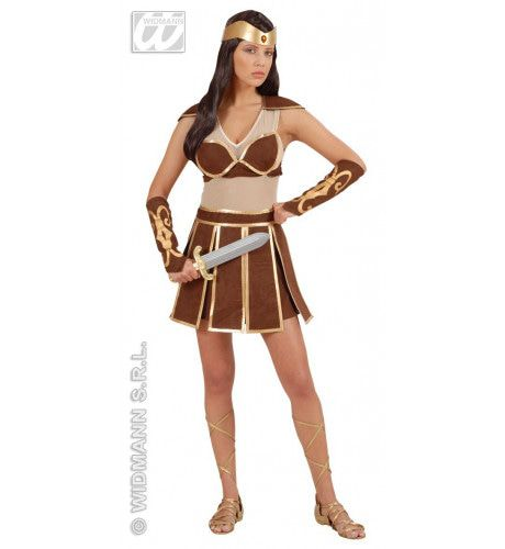 Strijdbare Amazone Vrouw Kostuum
