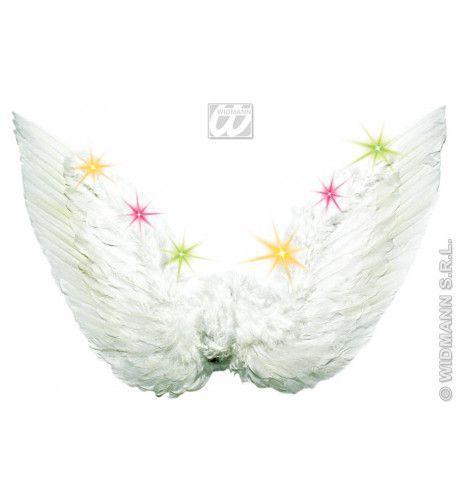 Engelenvleugel Veren Met Licht, Wit (68x45cm)